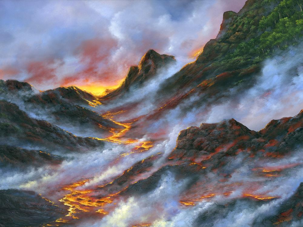 """Kilauea River"" 30x40"