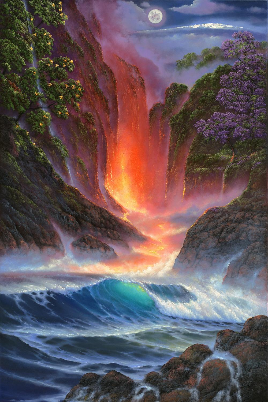 """""""Kilauea Mauna Loa"""" 24x36"""