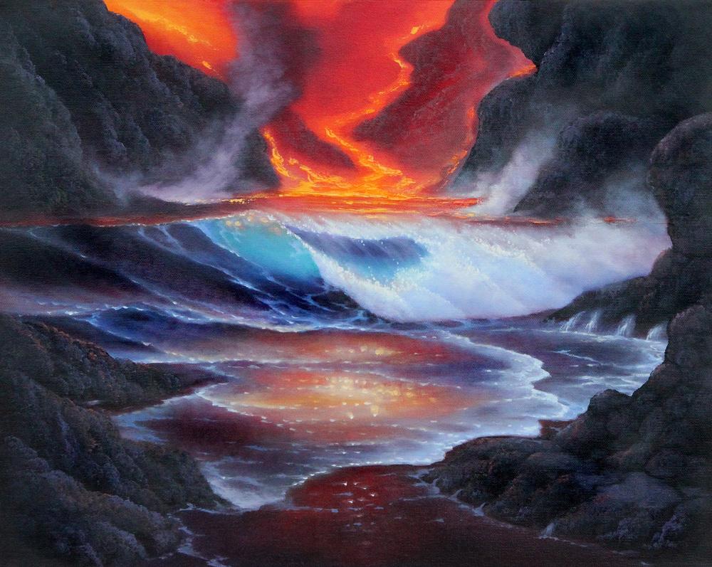 """""""Lava Fantasy"""" 16x20"""