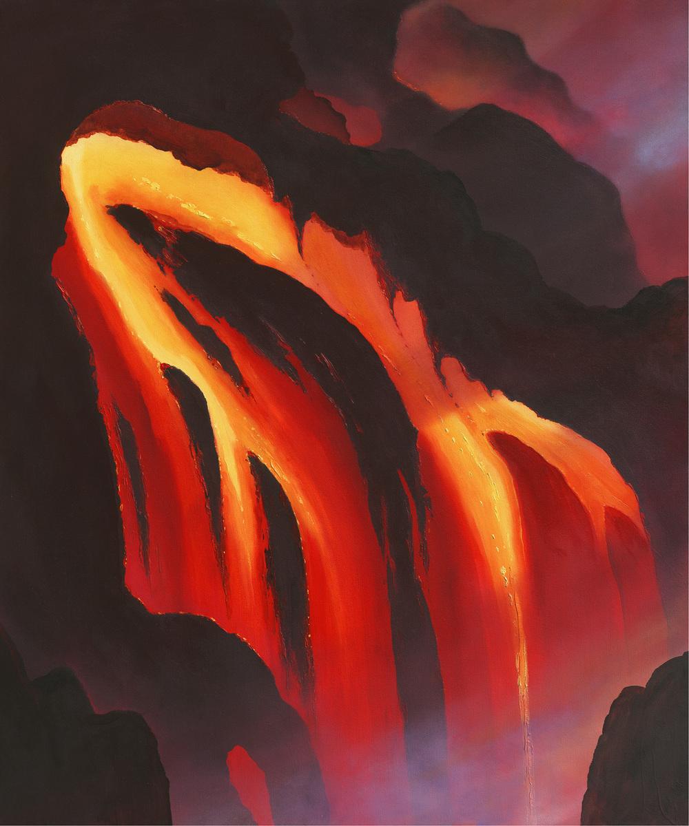 """""""Lava Flow"""" 24x30"""