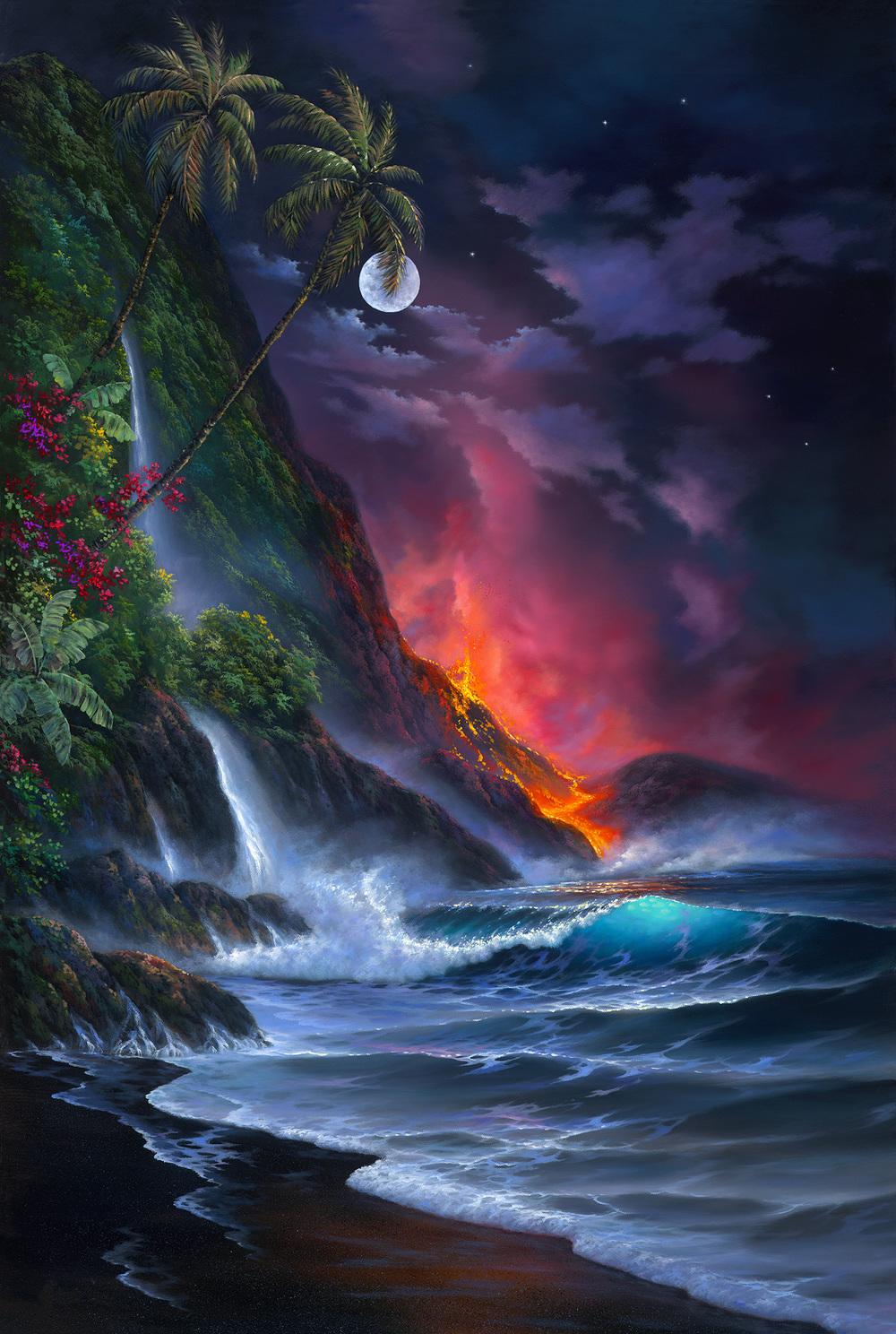 """Volcano Passion"" 24x36"