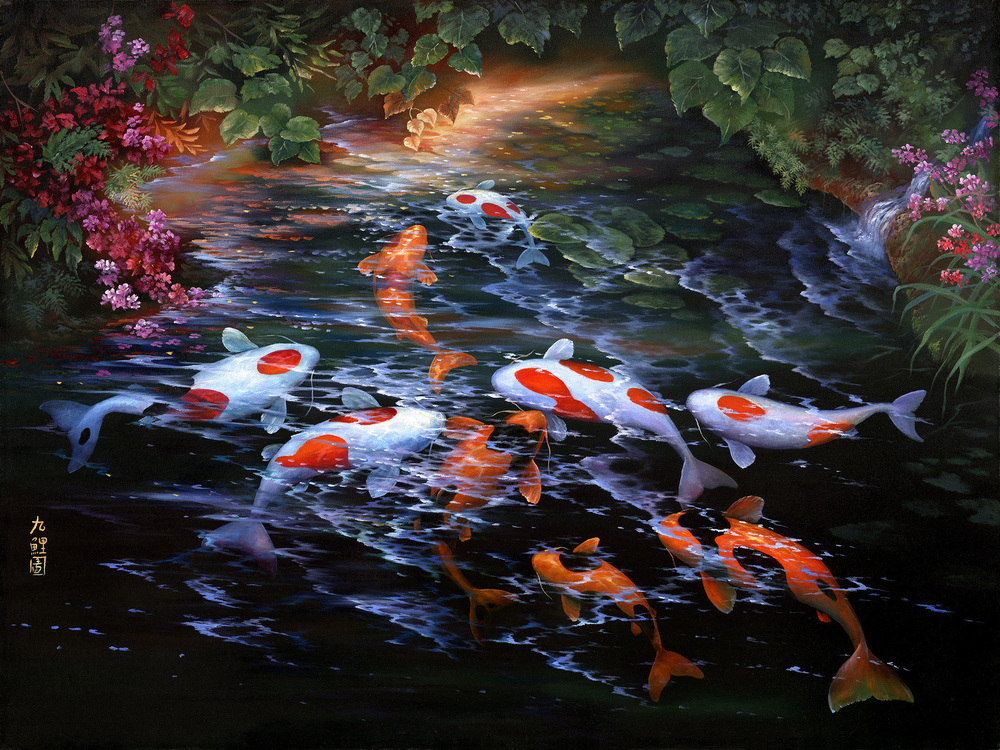 """Koi Collection"" 30x40"