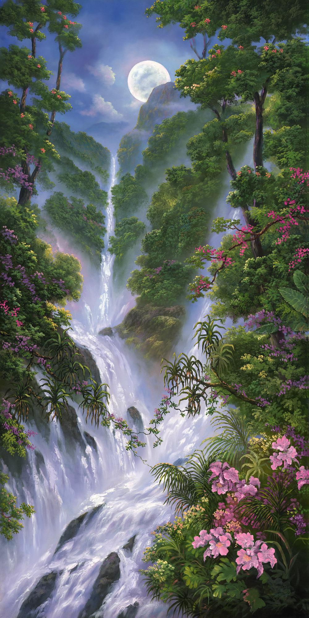 """""""Orchids Mist"""" 18x36"""
