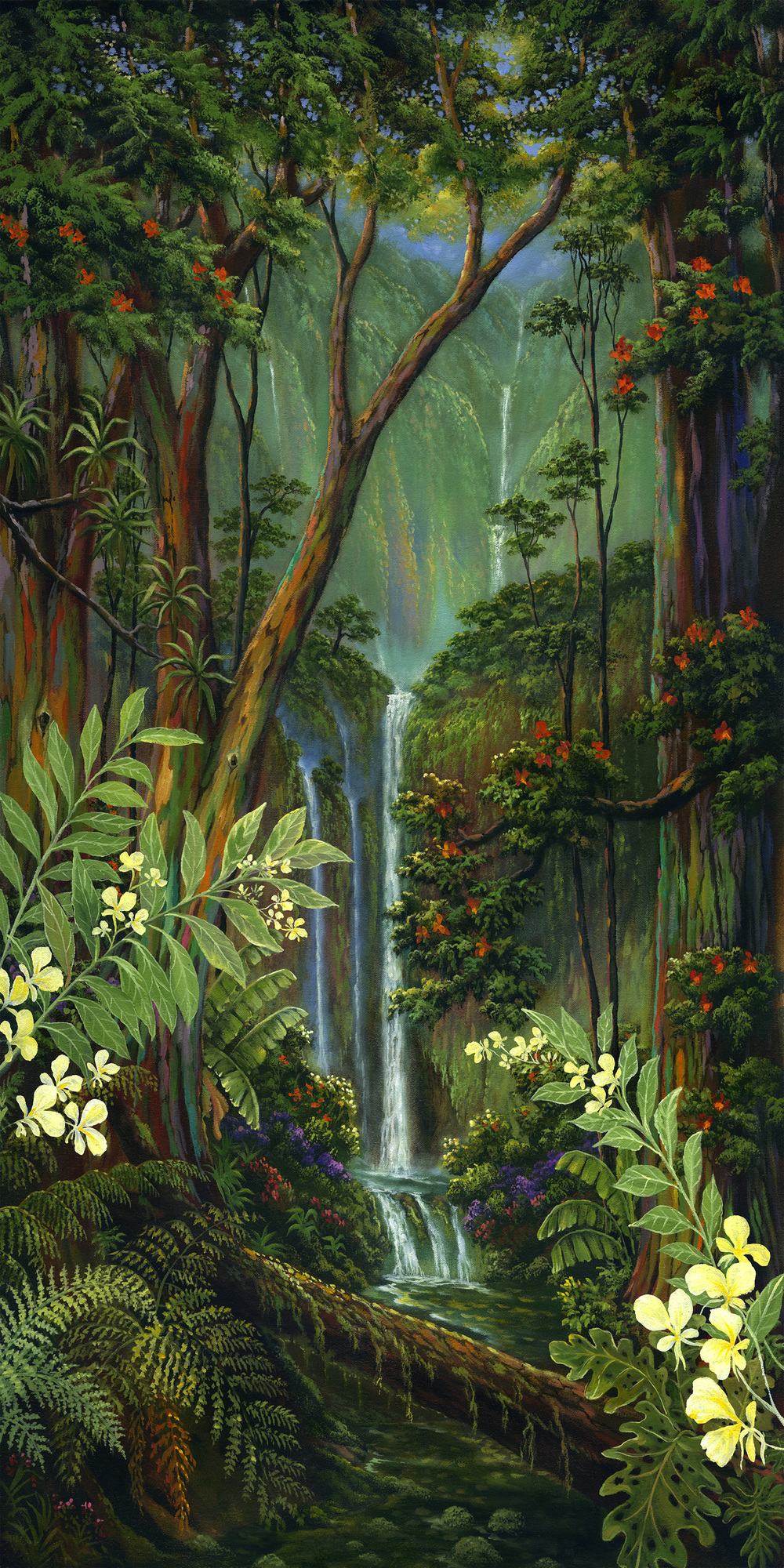 """White Ginger Falls"" 20x40"