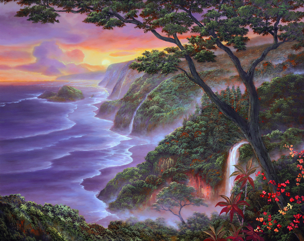 """Hamakua Sunrise"" 24x30"