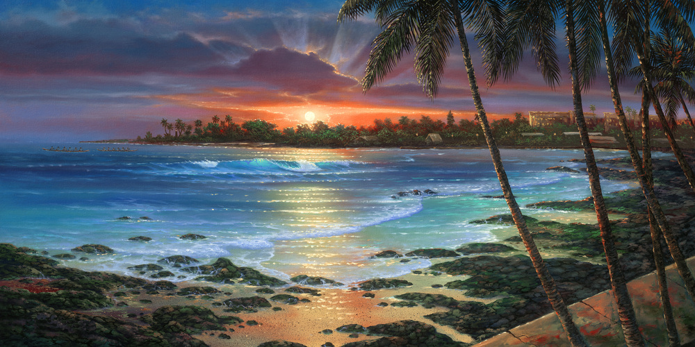 """Kona Inn Sunset"" 20x40"