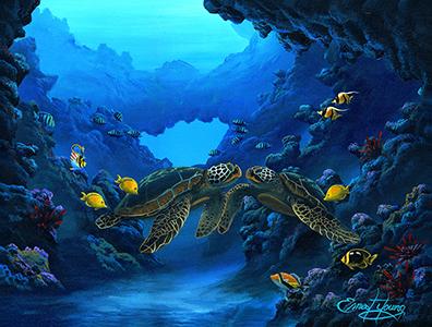 """""""Honu's Aloha"""" 18x24"""