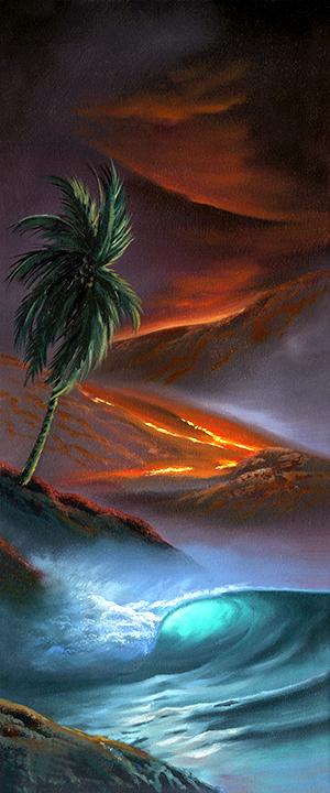 """Kilauea Journey"" 10x24"