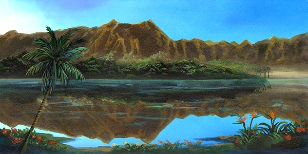 """Koolau Reflections"" 12x24"