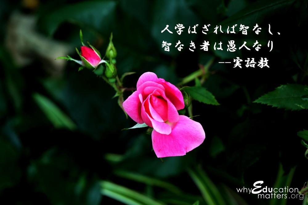 人学ばざれば智なし、智なき者は愚人なり --実語教