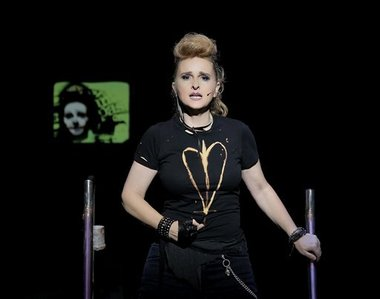 Symbol bleached onto black tee for Melissa Etheridge when she stepped into the role on Broadway.