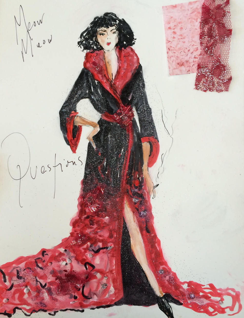 """Costume sketch for """"letters"""""""
