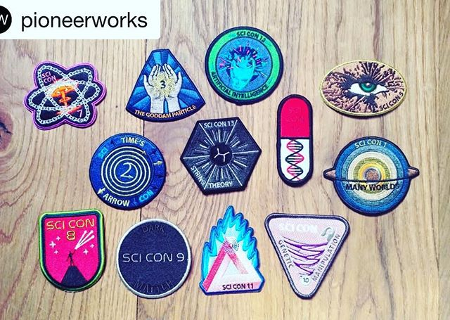 A Patch Fantasia designed for Scientific Controversies: collect them all and doll up your favorite jacket or jumpsuit @risendivision @jannalevin @pioneerworks #Repost @pioneerworks with @get_repost ・・・ The patch for Scientific Controversies No. 15: Black Holes is coming! Collect them all! @unicorngenius @risenfromthethread #collectthemall #blackholes #pwsiccon