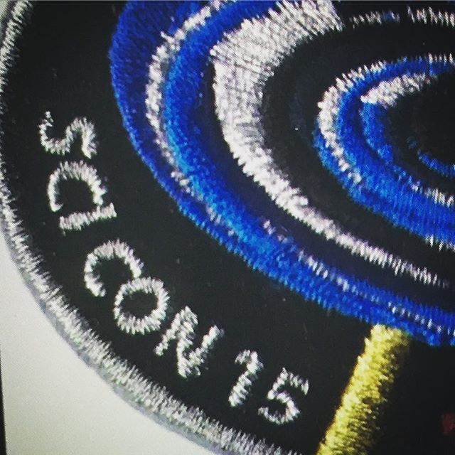 Glimpse of Sci Con 15 Black Holes! patch available July 26th @pioneerworks @jannalevin #patchesforthemasses #patchwork #designyouruniverse #blackholes #designer