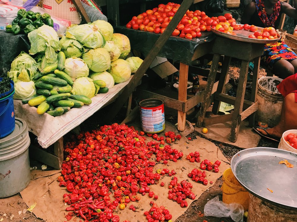 One stall at an Imo State market, in all it's pepper-filled glory.