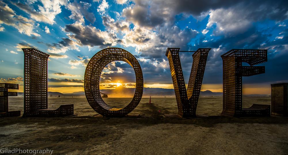 LOVE Burning Man 2014
