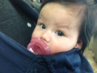 Got her ears pierced!