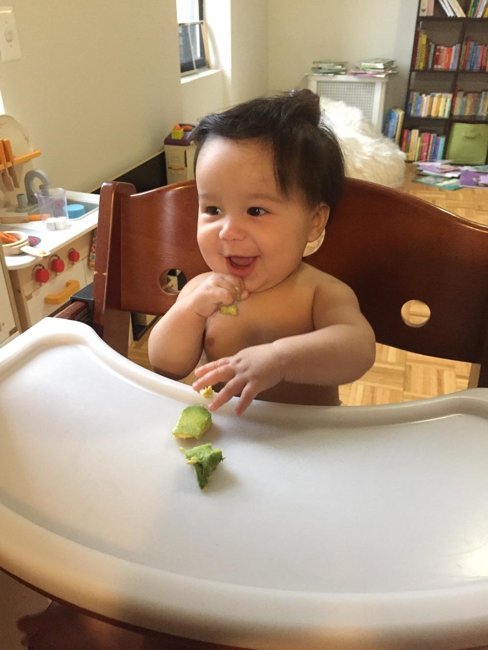 Trying avocado!