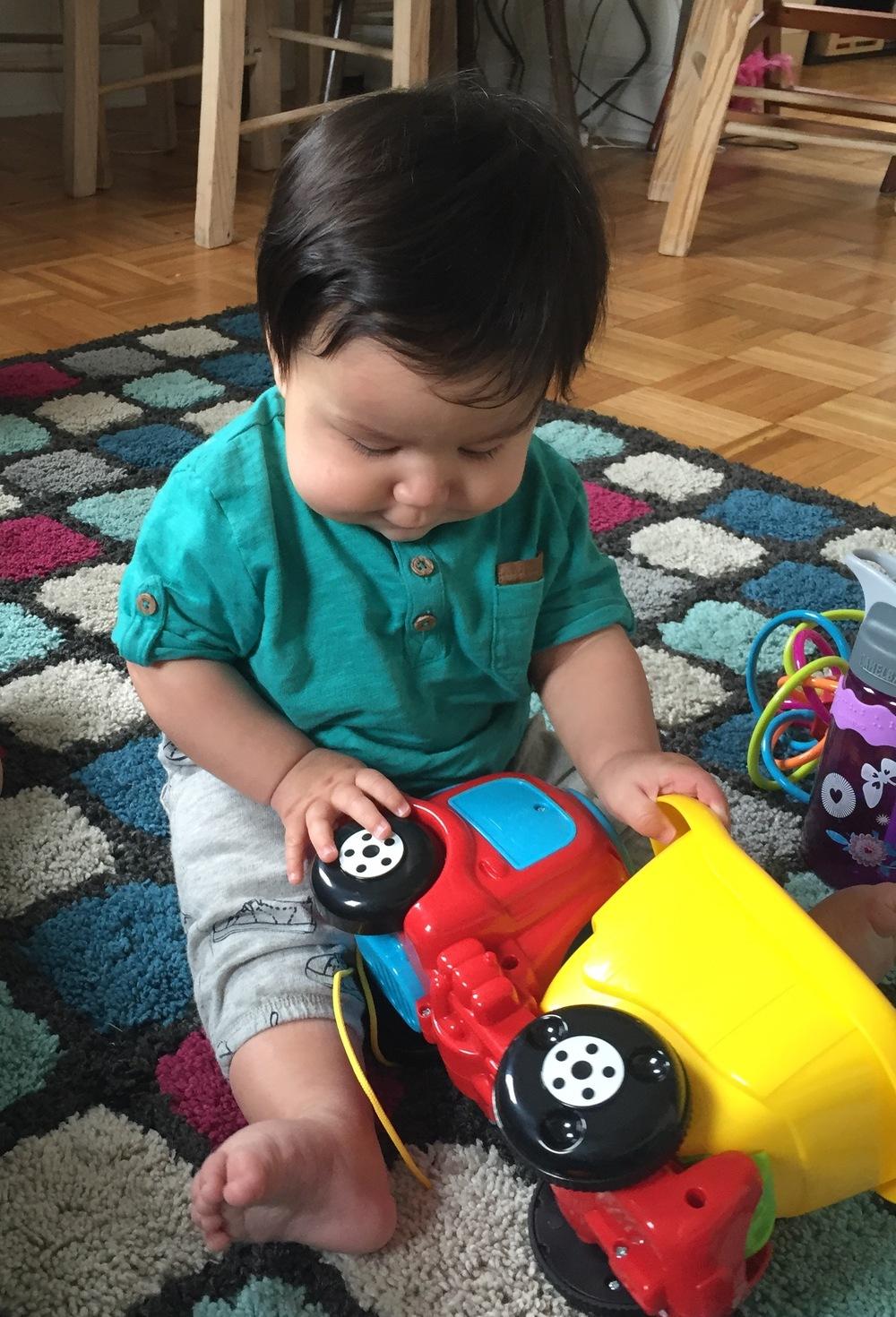 A boy & his truck