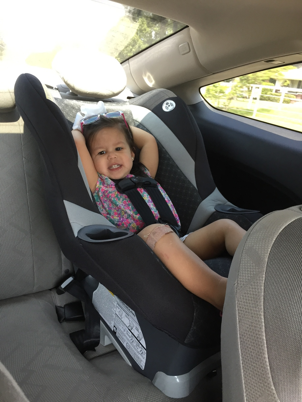 getting used to carseats