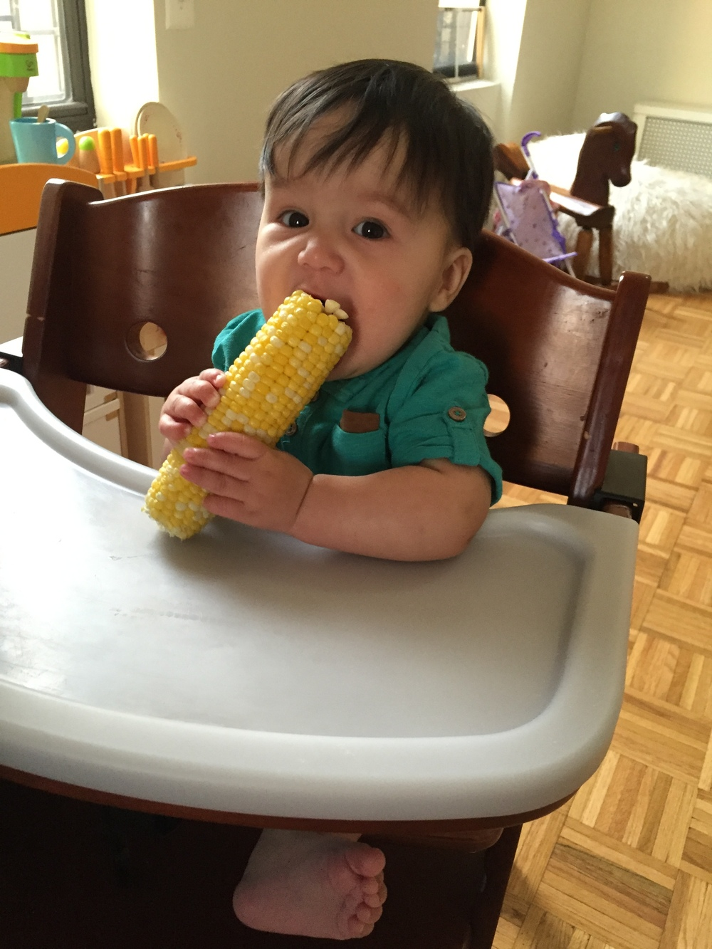 He loved corn!