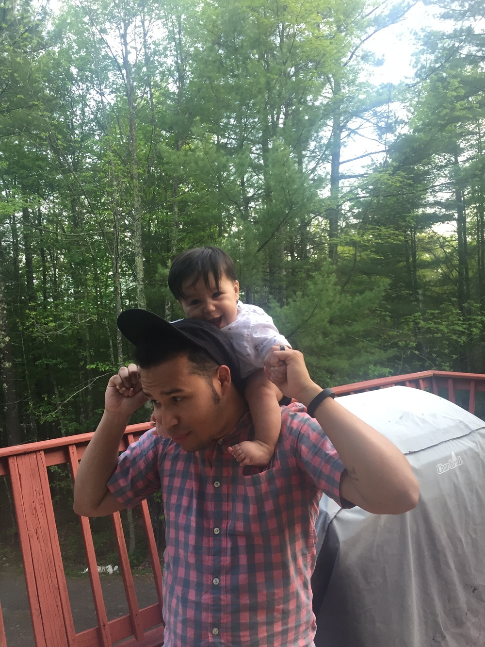 Hanging with Papi in the Catskills