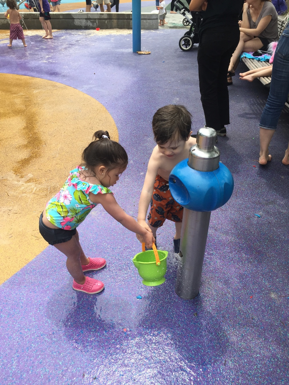 Tribeca Splash pad fun!