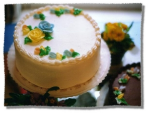 Example of our generic Vanilla cake