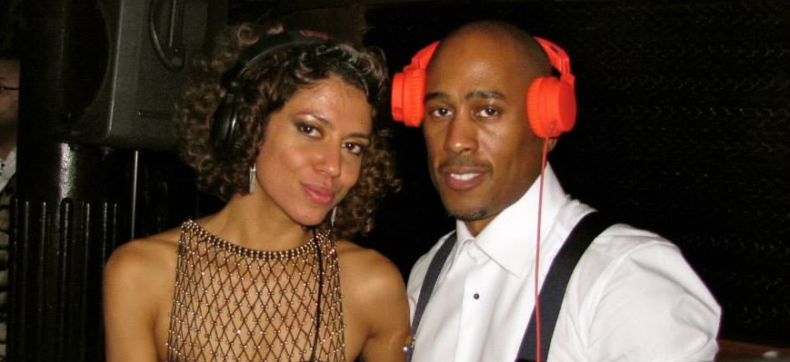 Natasha spinning w/Ali Shaheed Muhammad (A Tribe Called Quest)