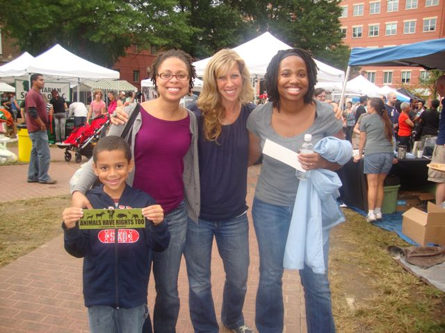 With Colleen (middle) at  DC Veg Fest