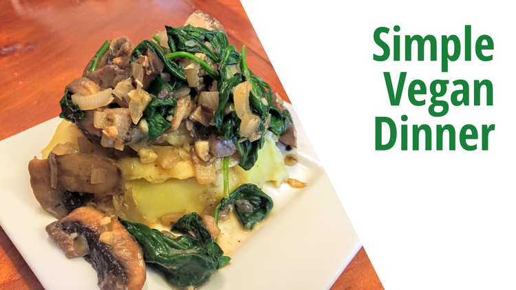 Mushroom spinach mashed potatoes recipe whats for dinner 5 if youre just getting started on a vegan journey i know how important it is for the food to be familiar comforting and flavorful this dinner recipe forumfinder Images