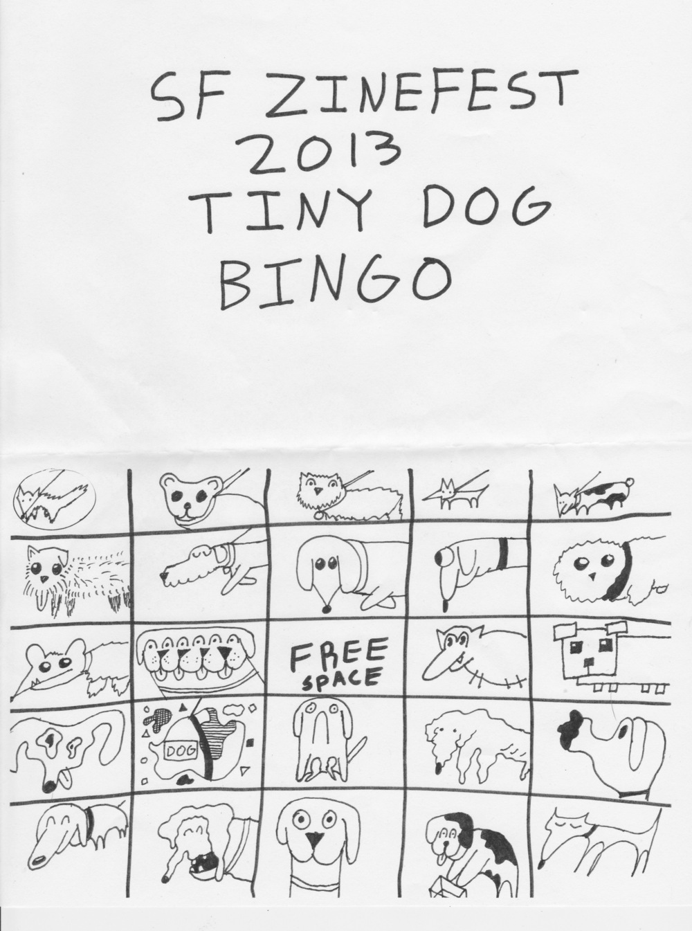A special thanks to Chigbarg (of the Double Elvis Ghost Library) for creating this Bingo masterpiece. And a big shout out to our featured artists Justin Hall, Roman Muradov, Sophia Foster Dimino, our guest readers, and our wonderful volunteers.