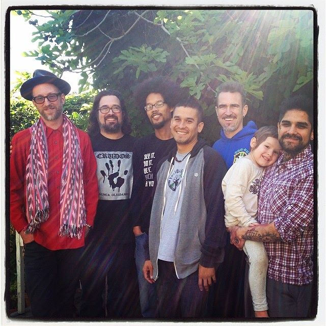 pictured:Kyle Knobel,Mike Avila,Tomas Moniz, Robert Trujillo, Craig Elliott, Danny Goot