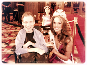 John with Olivia Culpo, Miss Universe 2012.