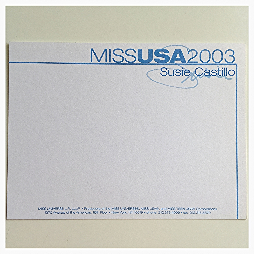 This was my Miss USA stationary. I saved a few of course : )