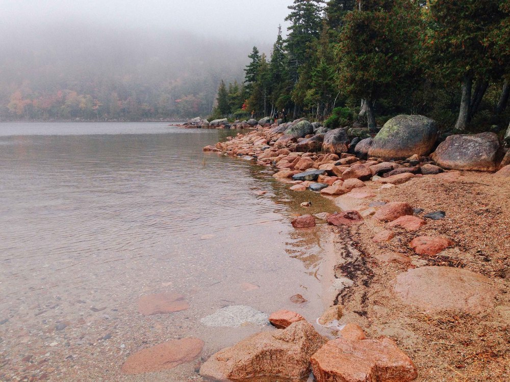 Jordan Pond for a serendipitously timed Acadia Instameet!