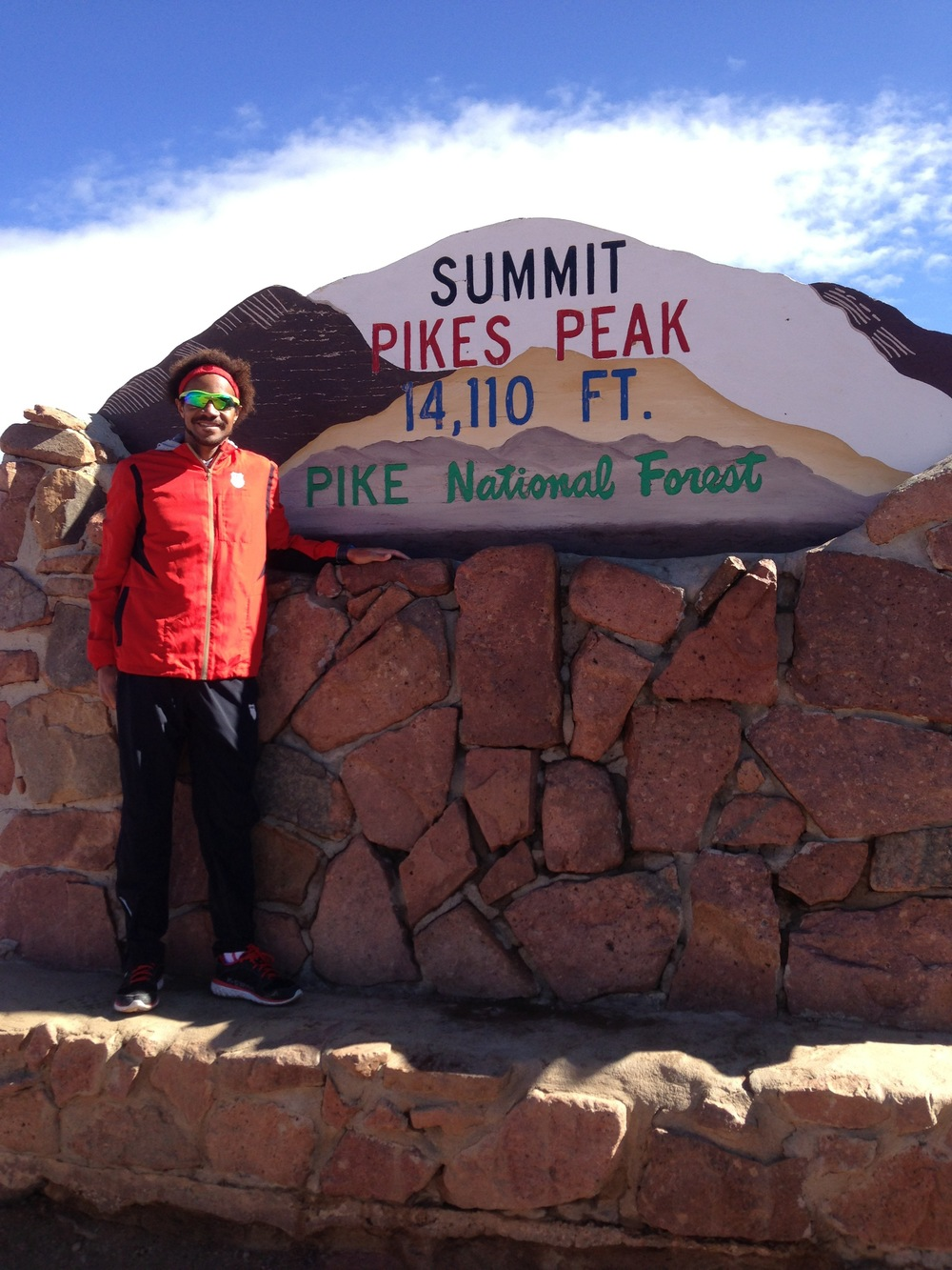 Atop Pikes Peak - Post Race