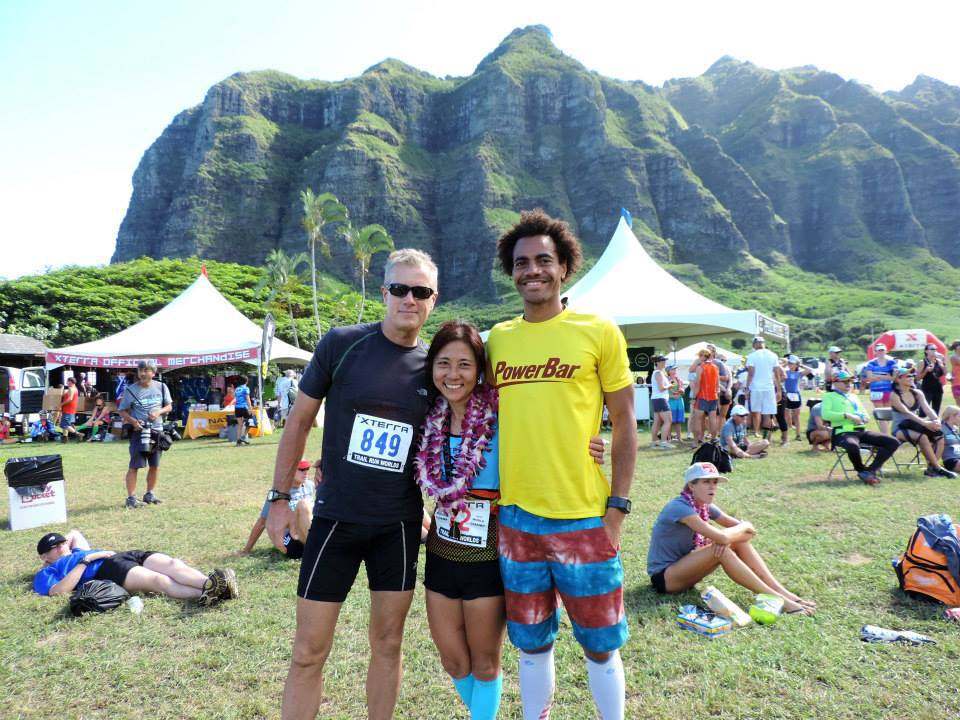 James, Nozomi and I post race