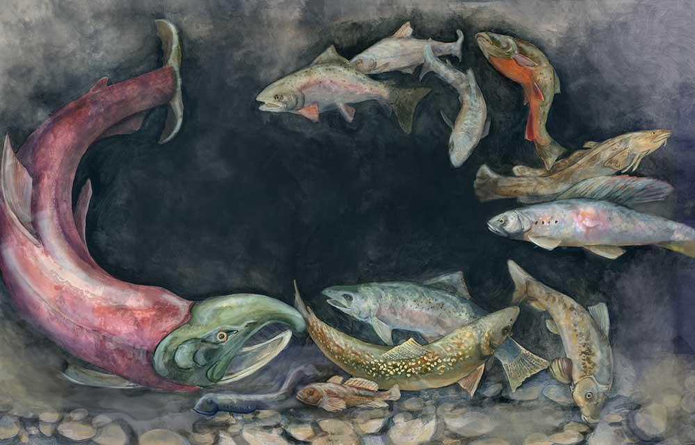 Fishing Widow Painting