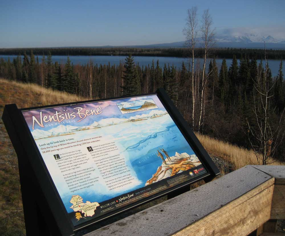 Willow Lake Sign