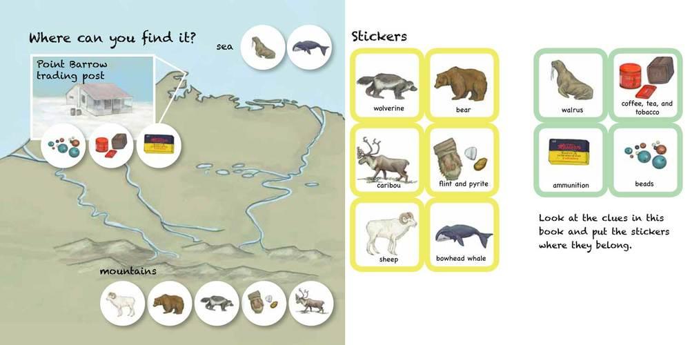 Last spread of the sticker book