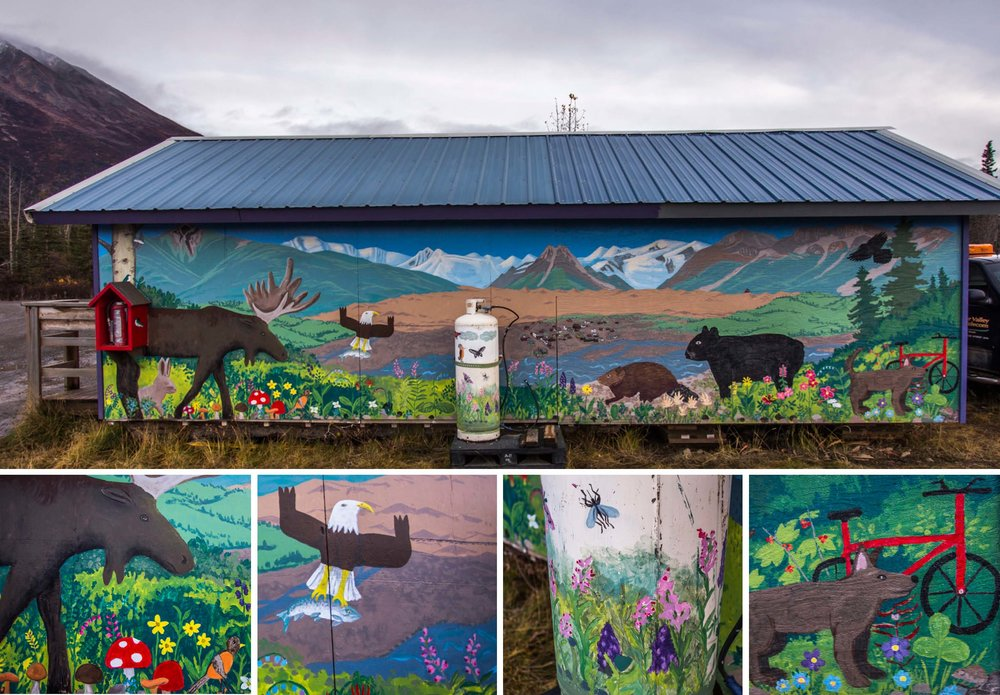 The finished mural and details. Photos by McKinney Makes Media