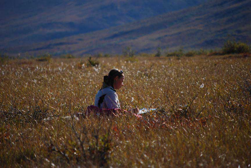 Sketching as artist in residence in the Gates of the Arctic National Park & Preserve  Photo by Richard Kahn