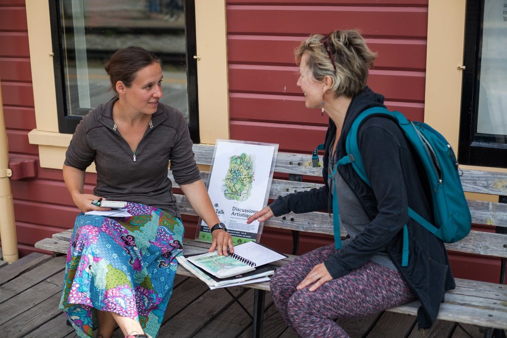 Sharing my sketchbooks and work after an artist residency on the Chilkoot Trail this summer.  Photo by NPS/ R. Harrison