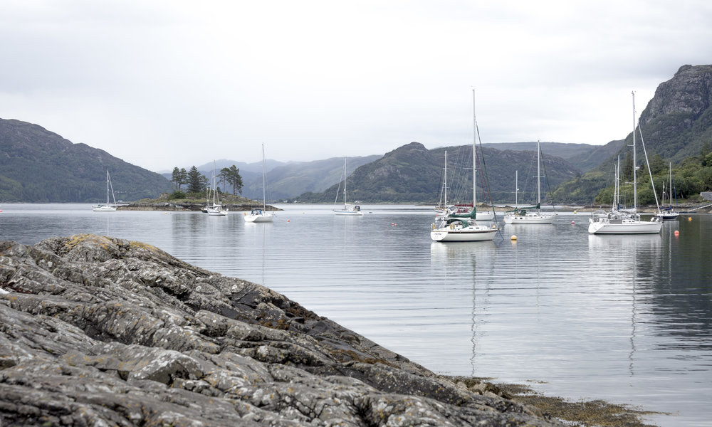 Plockton harbour/bay/boat park... not sure what to call it. Lovely anyway.