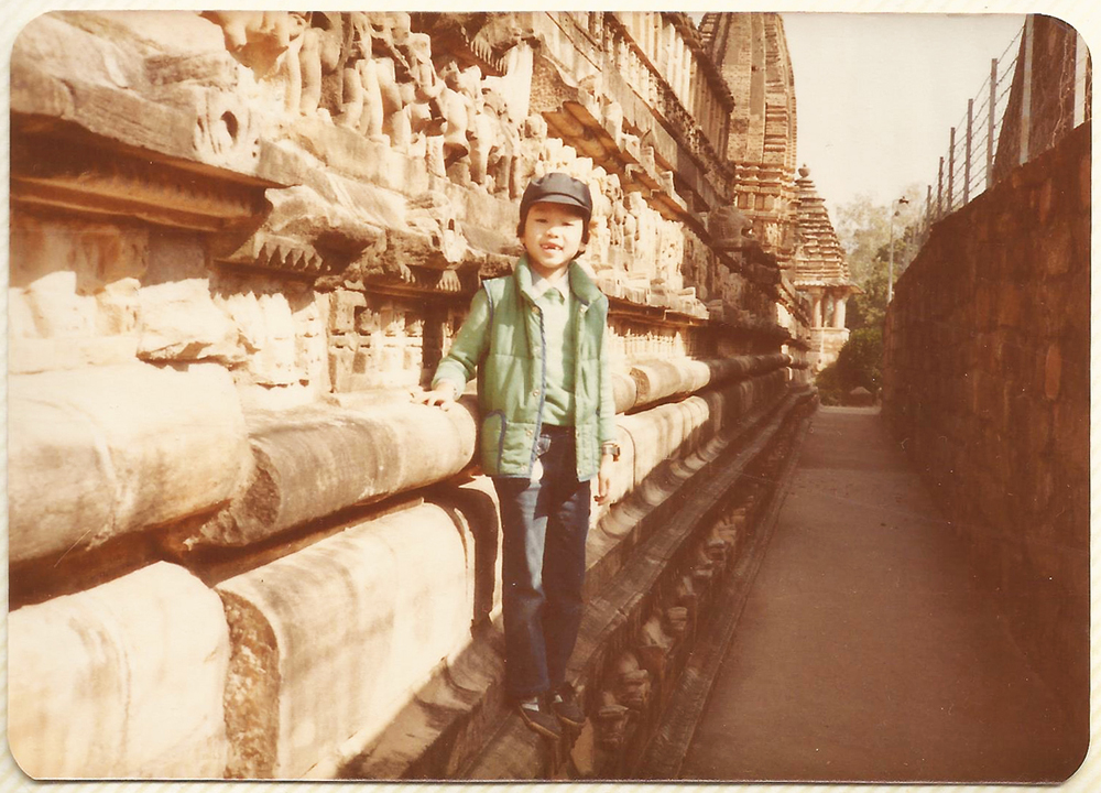 Me in India. Note missing front teeth.