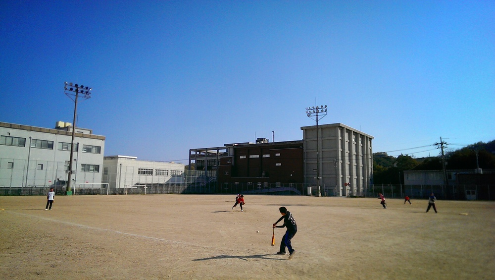 A game of pick up baseball in Shodoshima.