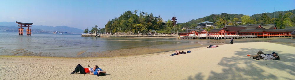 Post lunch siesta on Miyajima Island