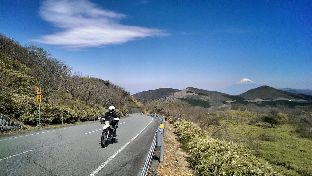 Riding the Izu Skyline.