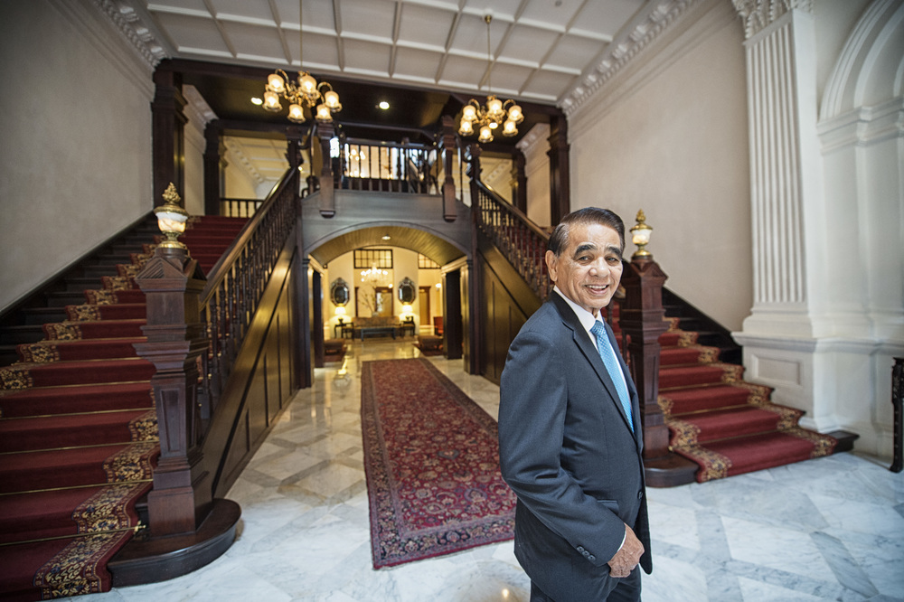 Raffles Hotel's only resident historian and longest serving employee, Leslie Danker, knows all the ins and outs of the famed hotel, even how high the hotel lobby is, down to the last millimetre.